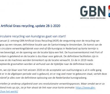 Recycling kunstgras 2020